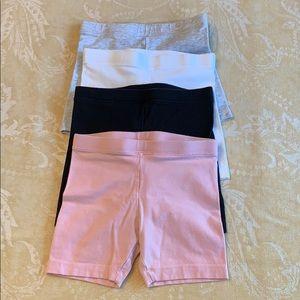 Bundle Old Navy Girls 5T Bike Shorts Black Pink